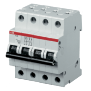 Выключатель автоматический четырехполюсный 10А С SH204L 4.5кА ABB