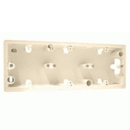 Valena Коробка накладная для настенного монтажа 3поста - слоновая кость
