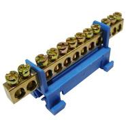 Шина нулевая 10 отверстий на DIN-изолятор типа Стойка ШНИ-6х9-10-С-С