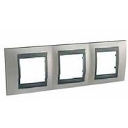 Рамка 3 поста никель/графит Schneider Electric/Unica Top MGU66.006.239