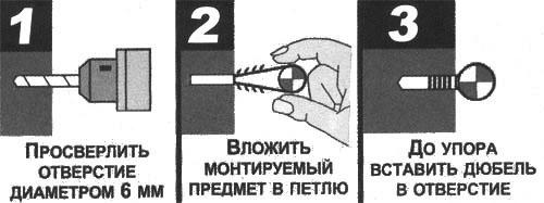 Способы монтажа дюбелей-хомутов
